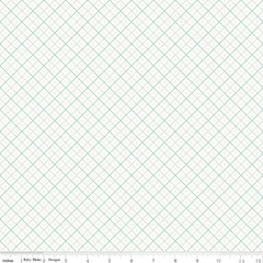 Bee Backgrounds Grid in Teal from Bee Basics, Backgrounds & Backings by Lori Holt for Riley Blake