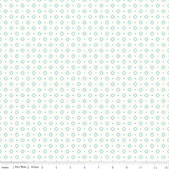 Bee Backgrounds Diamond in Turquoise from Bee Basics, Backgrounds & Backings by Lori Holt for Riley Blake