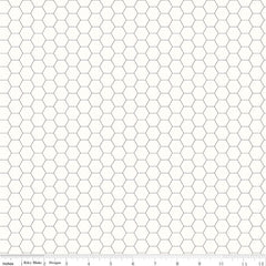 Bee Backgrounds Honeycomb in Gray from Bee Basics, Backgrounds & Backings by Lori Holt for Riley Blake