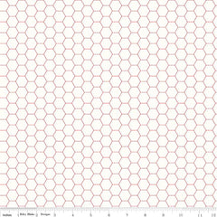 Bee Backgrounds Honeycomb in Red from Bee Basics, Backgrounds & Backings by Lori Holt for Riley Blake