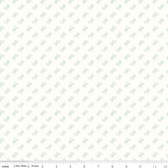 Bee Backgrounds Bicycle in Mint from Bee Basics, Backgrounds & Backings by Lori Holt for Riley Blake