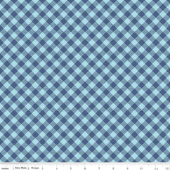 Bee Basics Gingham in Blue from Bee Basics, Backgrounds & Backings by Lori Holt for Riley Blake