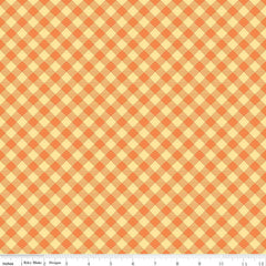 Bee Basics Gingham in Orange from Bee Basics, Backgrounds & Backings by Lori Holt for Riley Blake