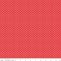 Bee Basics Tiny Daisy in Red from Bee Basics, Backgrounds & Backings by Lori Holt for Riley Blake