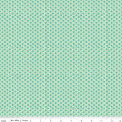 Bee Basics Tiny Daisy in Teal from Bee Basics, Backgrounds & Backings by Lori Holt for Riley Blake