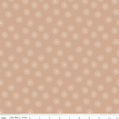 Bee Basics Blossom in Nutmeg from Bee Basics, Backgrounds & Backings by Lori Holt for Riley Blake