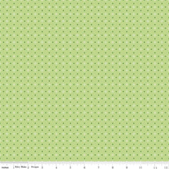 Bee Basics Polka Dot in Green from Bee Basics, Backgrounds & Backings by Lori Holt for Riley Blake