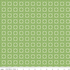Bee Basics Circle in Green from Bee Basics, Backgrounds & Backings by Lori Holt for Riley Blake