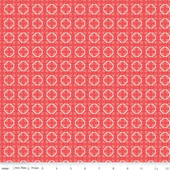 Bee Basics Circle in Red from Bee Basics, Backgrounds & Backings by Lori Holt for Riley Blake