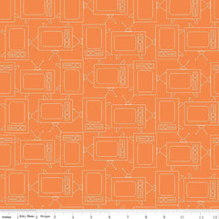 Bee Basics TV in Orange from Bee Basics, Backgrounds & Backings by Lori Holt for Riley Blake