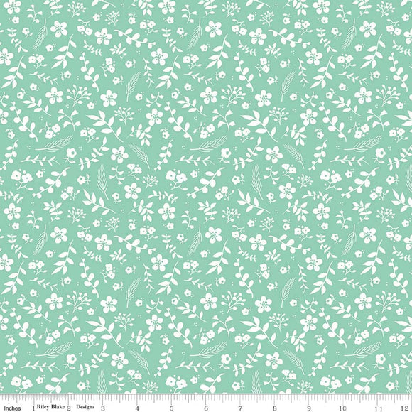 Sweet Prairie Floral in Teal