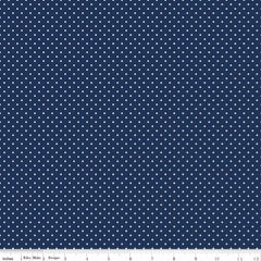 Swiss Dot in Navy from Swiss Dot by Riley Blake House Designers  for Riley Blake