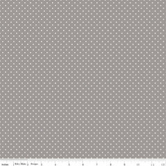 Swiss Dot in Gray from Swiss Dot by Riley Blake House Designers  for Riley Blake