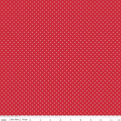 Swiss Dot in Red from Swiss Dot by Riley Blake House Designers  for Riley Blake