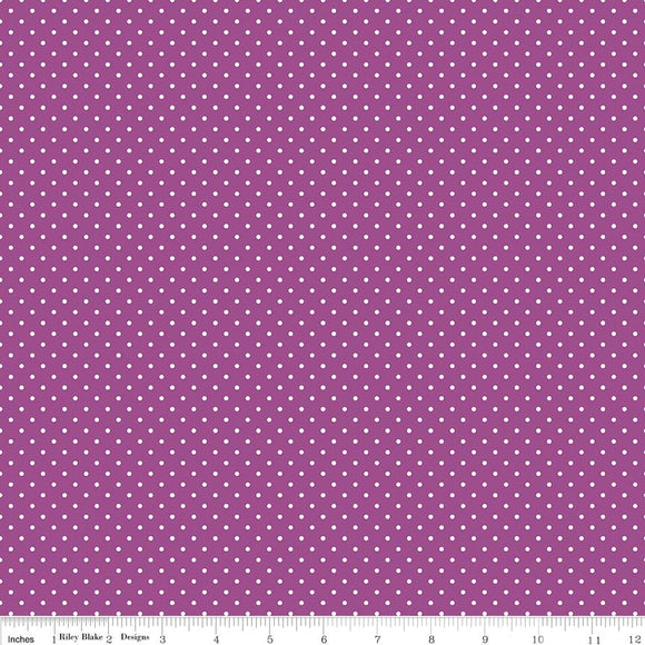 Swiss Dot in Purple