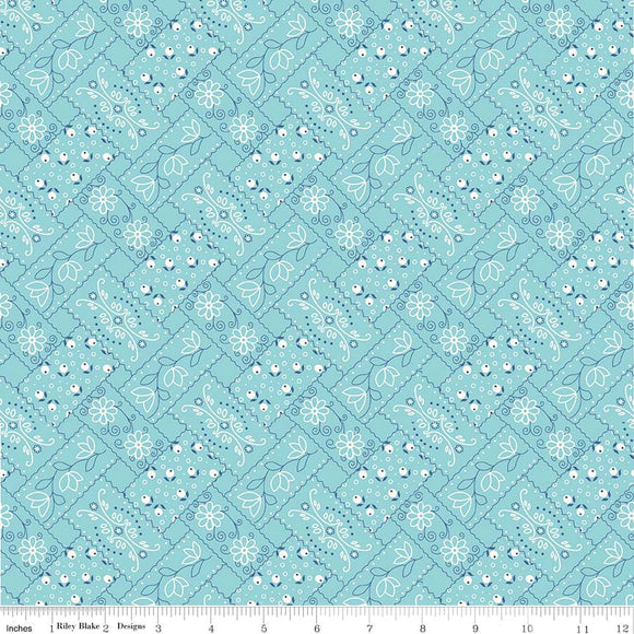 Farm Girl Vintage Bandana in Aqua