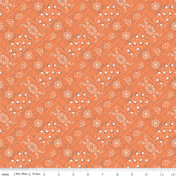 Farm Girl Vintage Bandana in Orange