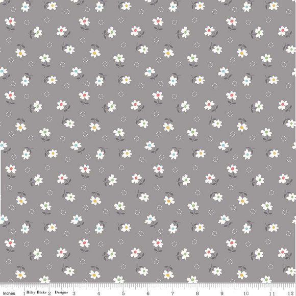 Farm Girl Vintage Daisy in Gray