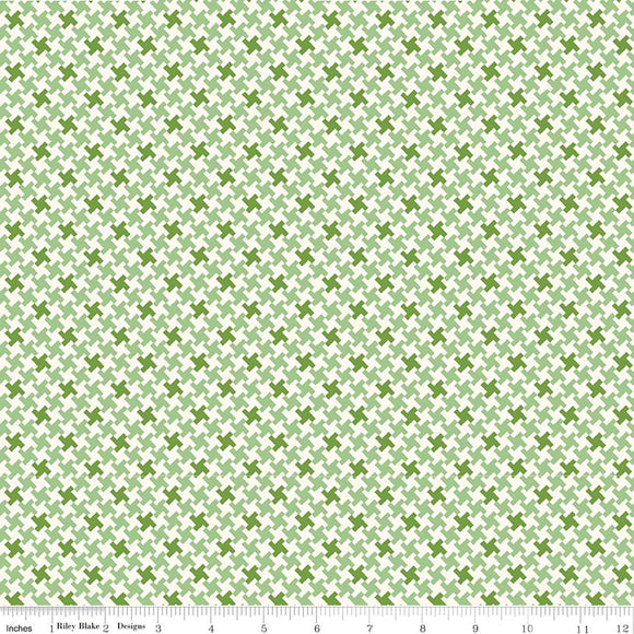 Farm Girl Vintage Houndstooth in Green