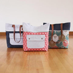 Caravan Tote + Pouch – Paper Accessory Pattern by Noodlehead Patterns