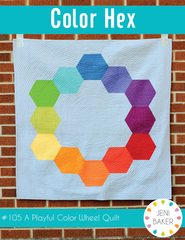 Hex Color - PDF Quilt Pattern from Curiosities by Jeni Baker for Art Gallery