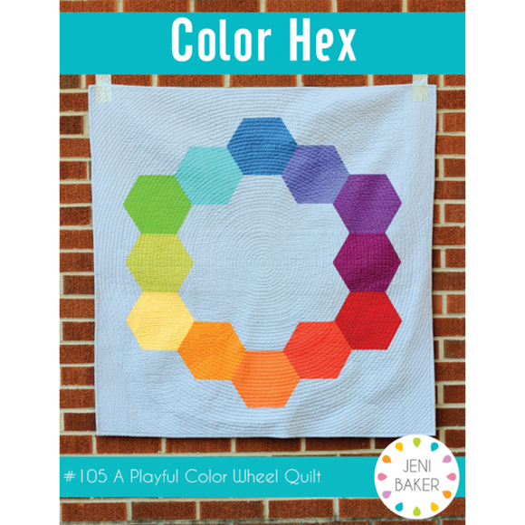 Color Hex Baby Quilt Kit by Jeni Baker Kit - Size 45