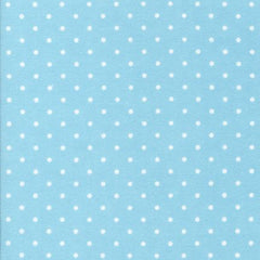 Cozy Tiny Dot in Aqua from Cozy Cotton by Robert Kaufman House Designers  for Robert Kaufman