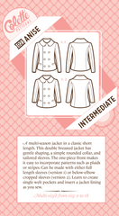 Anise - Paper Apparel Pattern from Liesl and Co by Colette Patterns for World Book Media