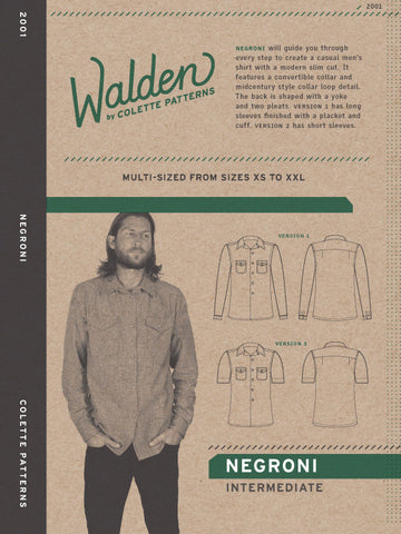 Negroni - Paper Apparel Pattern
