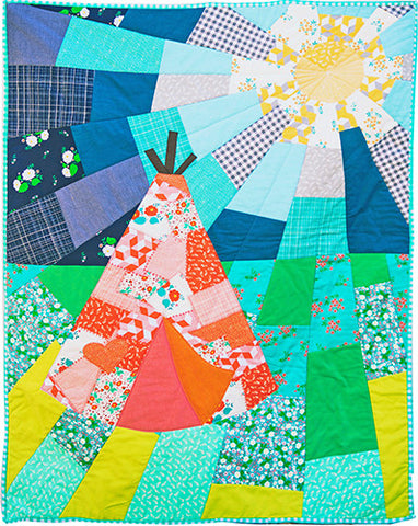 Crazy Quilting Camping Quilt Pattern