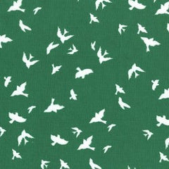 Christmas Flight in Green from Christmas at Brambleberry Ridge by Violet Craft for Michael Miller