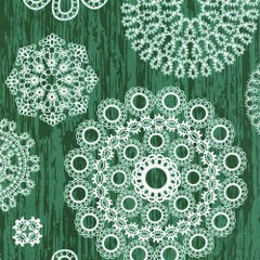 Christmas Knots & Loops in Green from Christmas at Brambleberry Ridge by Violet Craft for Michael Miller