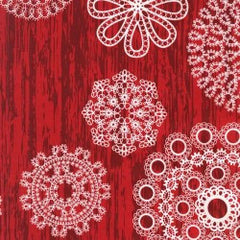 Christmas Knots & Loops in Red from Christmas at Brambleberry Ridge by Violet Craft for Michael Miller