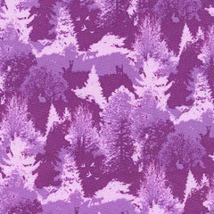 Urban Boundary in Purple from Highlands by Violet Craft for Michael Miller