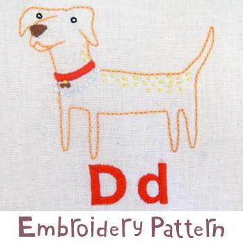 Dog Embroidery - PDF Accessory Pattern