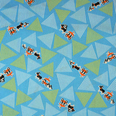 Donkeys and Triangles in Blue from Days of Kids by Yuwa House Designers  for Yuwa