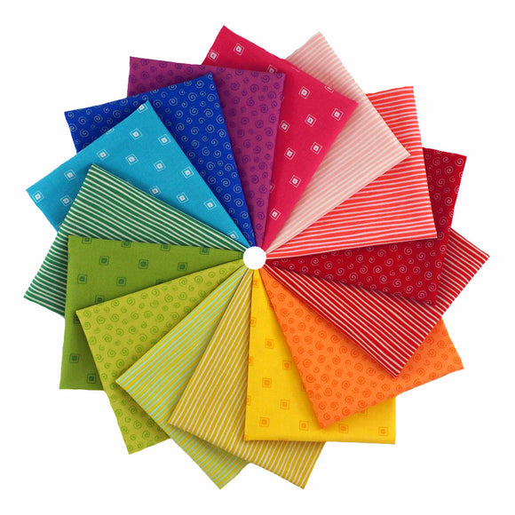 L's Modern Fiesta Time! Rainbow - Fat Quarter Bundle