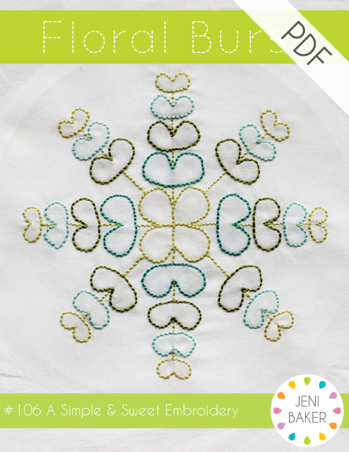 Floral Burst - PDF Embroidery Pattern