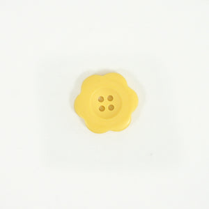 "Button - 1.5"" Flower in Matte Butter"