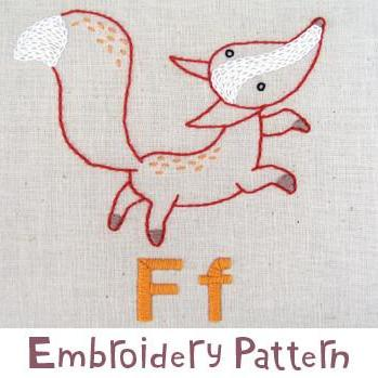 Fox Embroidery - PDF Accessory Pattern