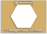 "1"" Hexagon Fussy Cut Finder"