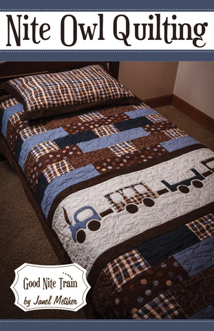 Good Nite Train - PDF Quilt Pattern