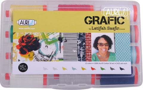 Aurifil Designer Thread Collection - Grafic - 12 Large Spools