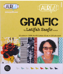 Aurifil Designer Thread Collection - Grafic - 10 Small Spools from Grafic by Latifah Saafir Studios