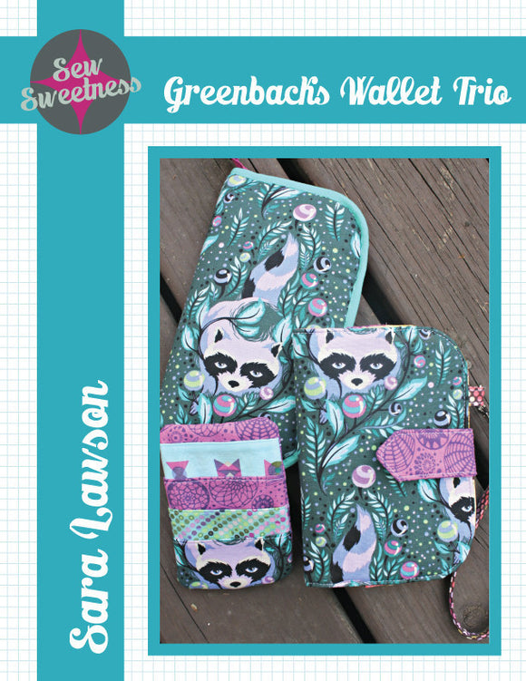 Greenbacks Wallet Trio - PDF Accessory Pattern