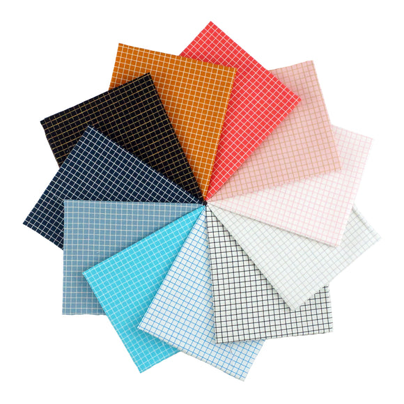 Ruby Star Society Grid - Fat Quarter Bundle