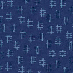 Roots in Navy from Conservatory by Heather Jones for Robert Kaufman
