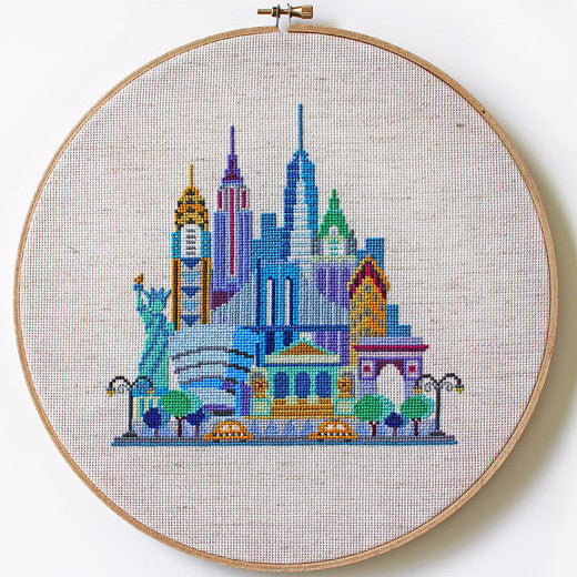 Pretty Little New York - Printed Cross-stitch Pattern