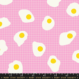 RS5018 12 Darlings Fried Eggs in Orchid by Kimberly Kight for Ruby Star Society from Pink Castle Fabrics