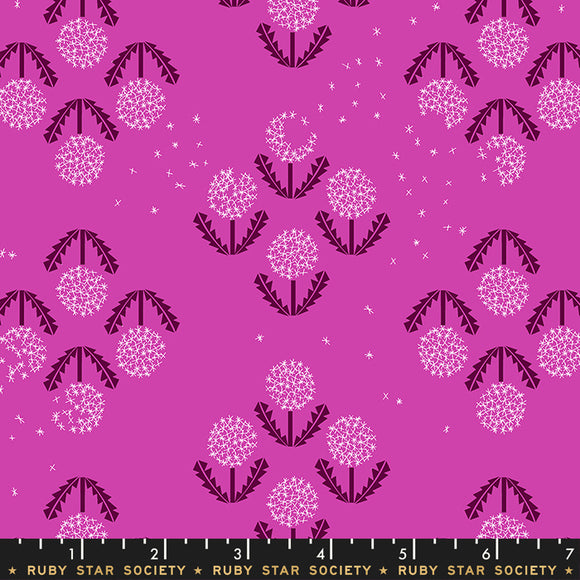 RS5014 15 Darlings Puff in Berry by Rashida Coleman-Hale for Ruby Star Society from Pink Castle Fabrics